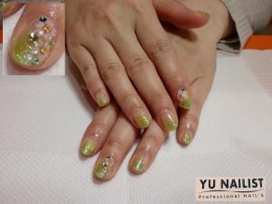 グリーン × 桜