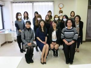 受験者と記念撮影。西沢先生!美しい!痩せようと決意しました。